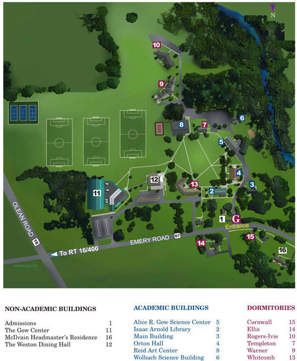 The Gow School Campus Map