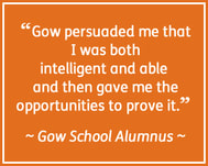 Gow School alumnus quote